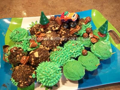 Homemade Jeep Trail Birthday Cake
