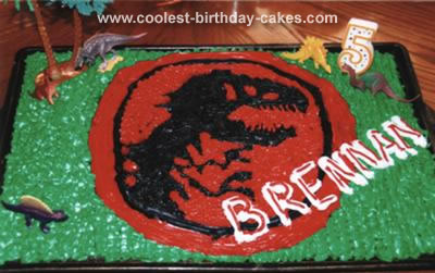 Cool Homemade Jurassic Park Cake
