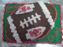 Surprising Kansas City Chiefs Football Cake Funny Birthday Cards Online Overcheapnameinfo