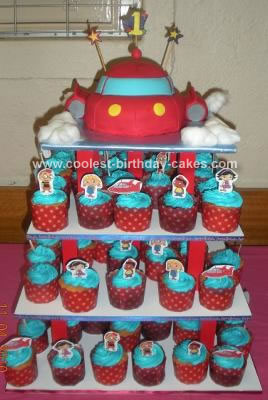 Astonishing Cool Homemade Little Einstein Rocket Cake And Cupcakes Funny Birthday Cards Online Alyptdamsfinfo