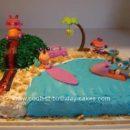 Homemade Pet Shop Beach Cake