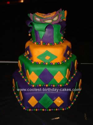Mardi Gras Fund Raiser Cake