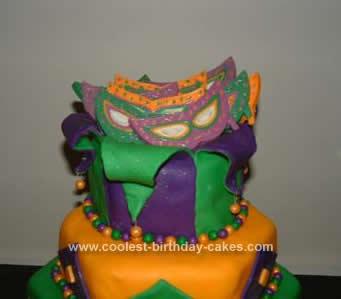Homemade Mardi Gras Fund Raiser Cake