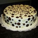 Mocha Polka Date Cake