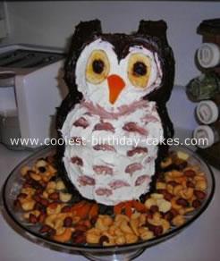 ooo ooo owl cake