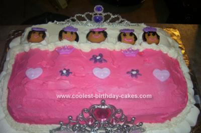 HOmemade Potbelly Princess Slumber Party Cake