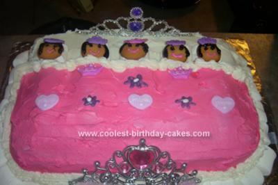 HOmemade Potbelly Princess Slumber Party Cake