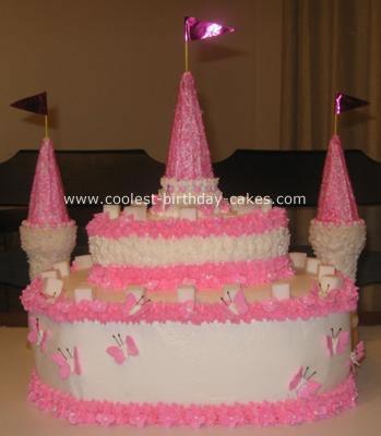 Pretty Pink Castle Cake