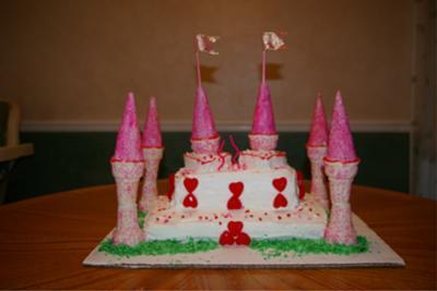 Hearts Princess Castle Cake