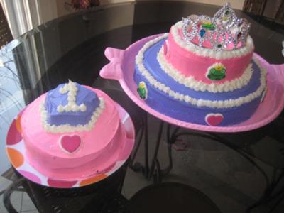 Simple Homemade Princess Cake And Smash