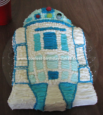 Simple Homemade R2d2 Cake