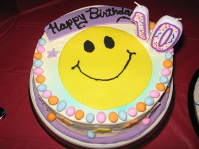 Groovy Smiley Face Cake Funny Birthday Cards Online Aeocydamsfinfo