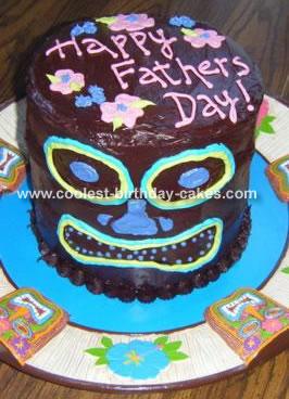 Excellent Tiki Luau Cake Funny Birthday Cards Online Elaedamsfinfo