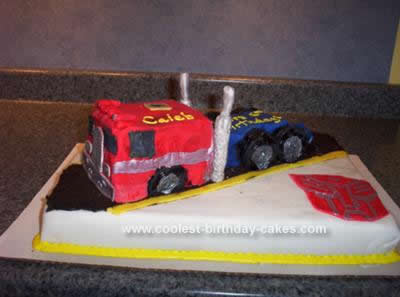 Homemade Transformers Optimus Prime Coolest Cake