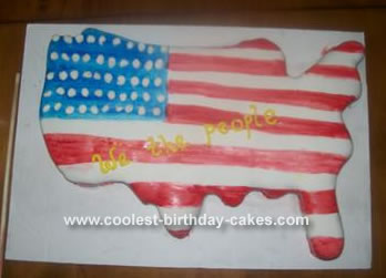 US Map Cake