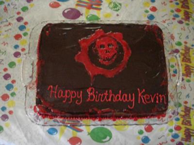 Admirable Video Game Gears Of War Cake Funny Birthday Cards Online Alyptdamsfinfo