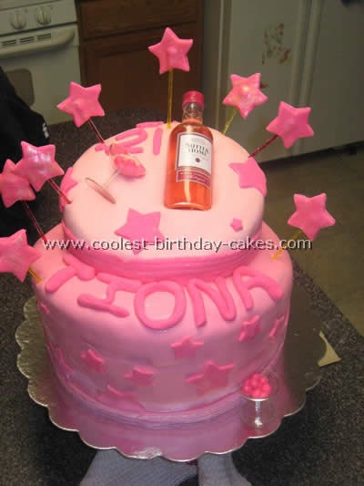 Outstanding Coolest Homemade 21St Birthday Theme Cakes Personalised Birthday Cards Veneteletsinfo