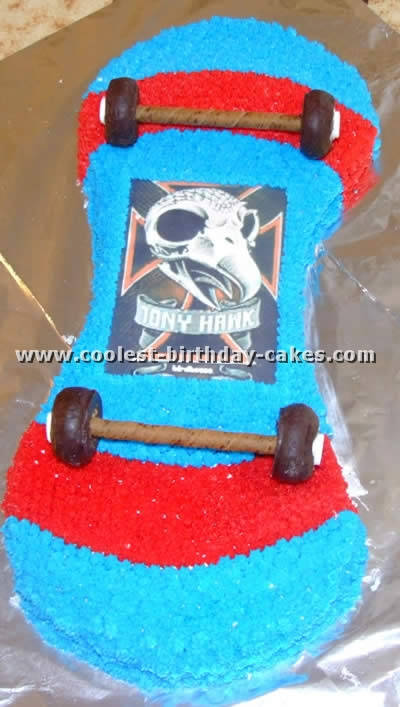 Remarkable Amazing Cake Ideas For A Skateboarding Theme Funny Birthday Cards Online Elaedamsfinfo