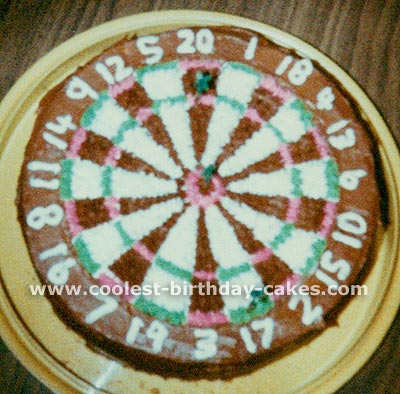 Amazing Cake Designs for a Homemade Darts Cake