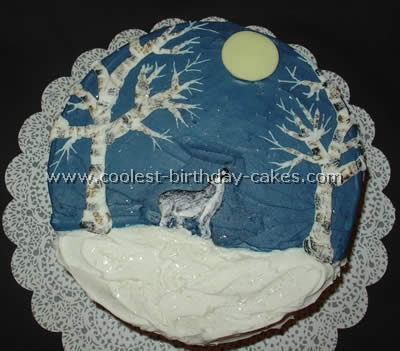 Animal Birthday Cake - Wolf