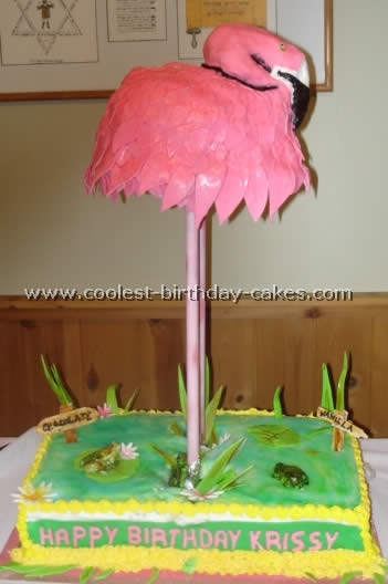 Phenomenal Coolest Flamingo And Other Animal Birthday Cakes Personalised Birthday Cards Veneteletsinfo