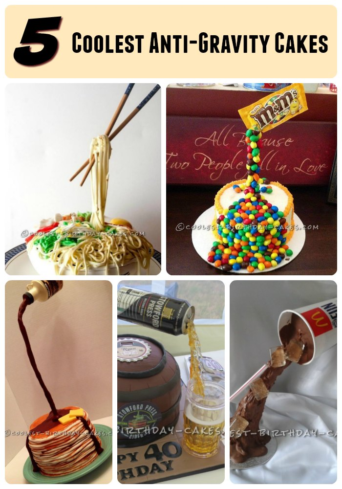 Terrific 5 Coolest Anti Gravity Cakes You Can Actually Make Birthday Cards Printable Nowaargucafe Filternl