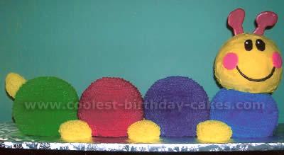 Cool Homemade Baby Einstein Caterpillar Cakes