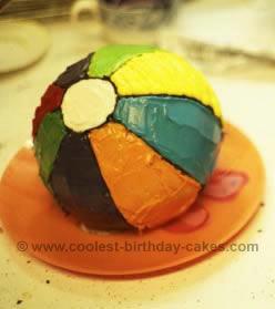 Outstanding Coolest Homemade Beach Ball Cakes Birthday Cards Printable Benkemecafe Filternl
