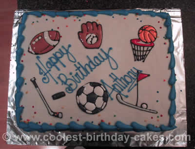 Coolest Sports Ball Cakes