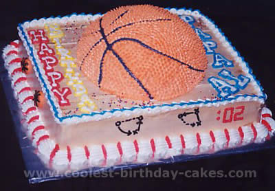 Wondrous Coolest Basketball Cake Designs And Decorating Tips Funny Birthday Cards Online Unhofree Goldxyz