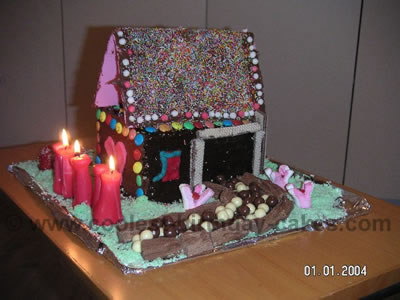 Candy House Cake Photo