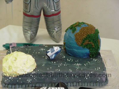 Earth-Shaped Cake