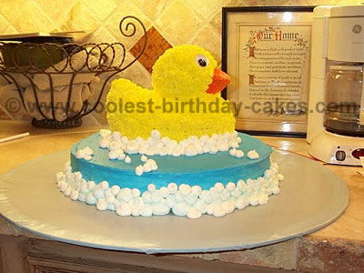 Admirable Coolest Birthday Cake Designs For Rubber Ducky Cakes Birthday Cards Printable Opercafe Filternl