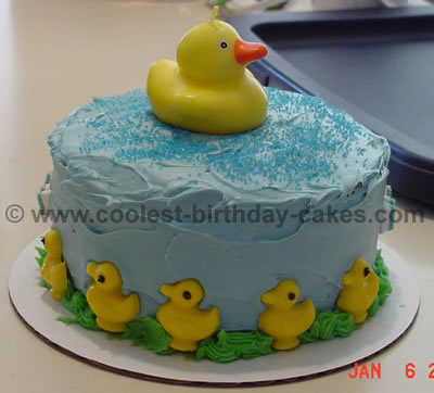 Pleasant Coolest Homemade Rubber Ducky Cakes Birthday Cards Printable Trancafe Filternl