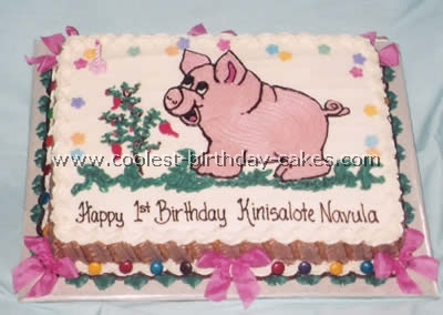 Pleasing Coolest Diy Birthday Cake Ideas Especially For Pig Lovers Funny Birthday Cards Online Aboleapandamsfinfo