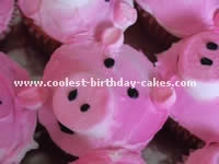Pig-Shaped Birthday Cake Ideas and Photo
