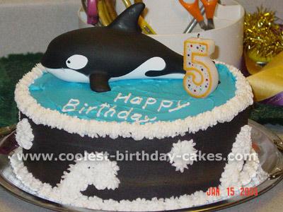 Whale-Shaped Birthday Cake Photo