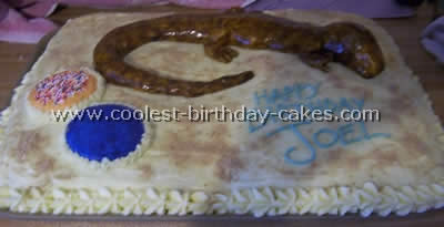 Coolest Lizard Birthday Cake Photos