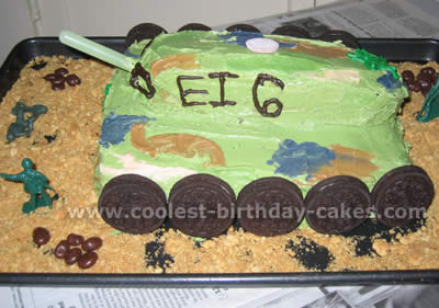 Tank Birthday Cake Picture