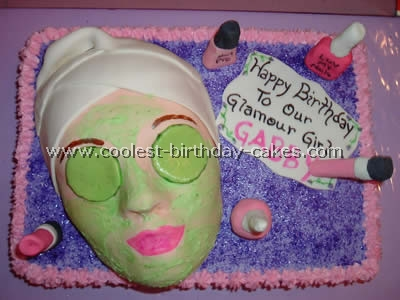 Prime Coolest Homemade Diva Glamour And Spa Cakes Personalised Birthday Cards Xaembasilily Jamesorg