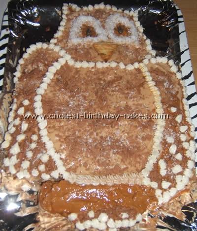 Owl Birthday Cake Decorating Idea