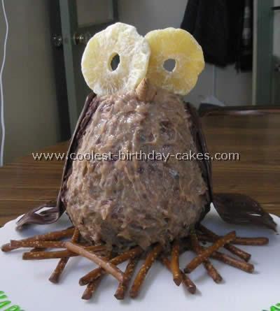 Coolest Owl-Shaped Birthday Cake Decorating Idea