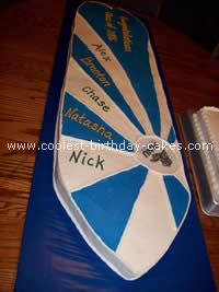 Surfing Birthday Cake Decorations