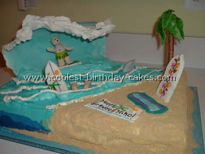 Awesome Coolest Surfing Birthday Cake Decorations Personalised Birthday Cards Paralily Jamesorg