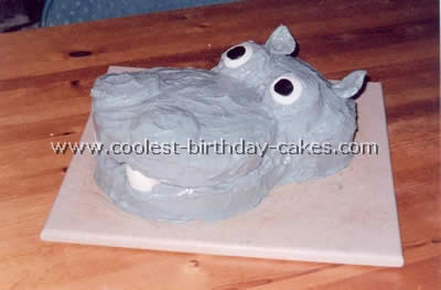 Excellent 3 Coolest Hippo Birthday Cake Design Ideas Personalised Birthday Cards Akebfashionlily Jamesorg