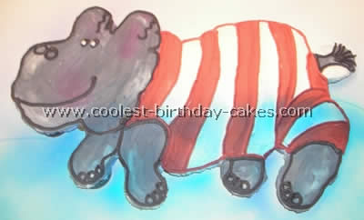 Hippo Birthday Cake Design
