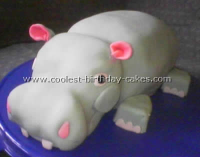 Marvelous 3 Coolest Hippo Birthday Cake Design Ideas Personalised Birthday Cards Akebfashionlily Jamesorg