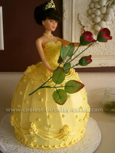 Wondrous Coolest Homemade Beauty And The Beast And Belle Cakes Funny Birthday Cards Online Elaedamsfinfo