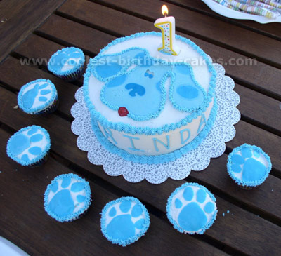 Wondrous Coolest Homemade Blues Clues Cakes Personalised Birthday Cards Fashionlily Jamesorg