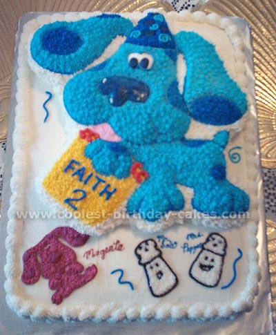 Sensational Coolest Homemade Blues Clues Cakes Personalised Birthday Cards Fashionlily Jamesorg